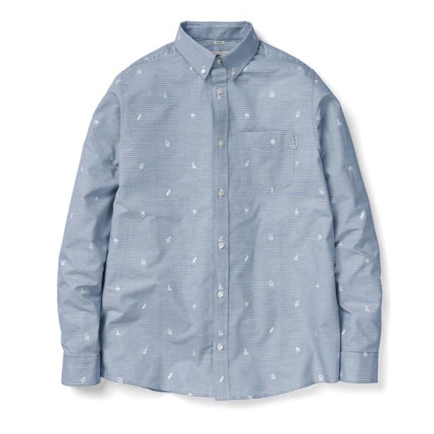 Carhartt camicia manica lunga fantasia palme