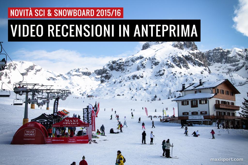Novità Sci e Snowboard 2015/2016