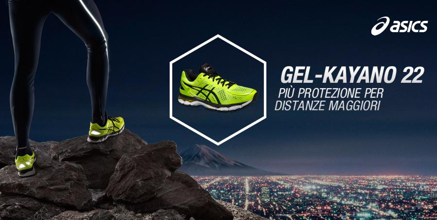 Nuova scarpe running asics Gel Kayano 22: più protezione per
