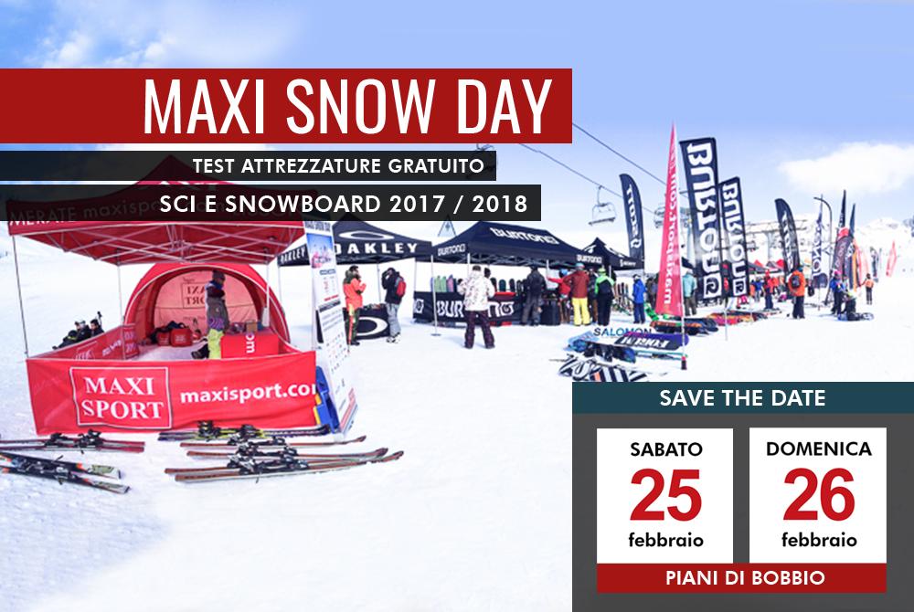 Maxi snow day 2017 vieni a testare in anteprima le nuove for Piani di combo per l house shop