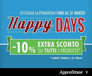 Happy Days -10% su tutti i prodotti