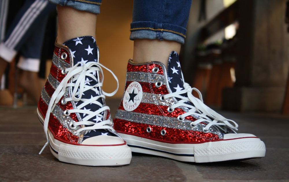 converse all star con brillantini