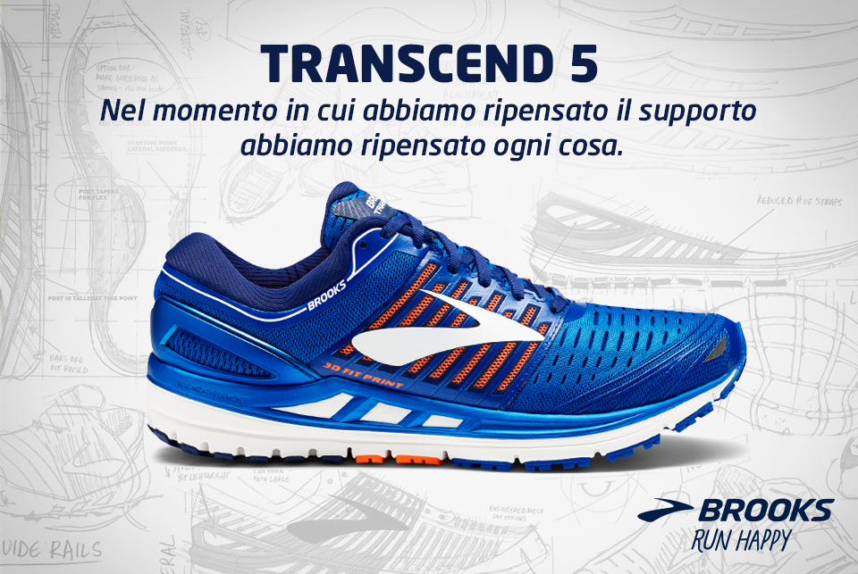 outlet store 8fdc3 76a50 Scarpe running 2018 | Nuove Brooks Transcend 5 | Maxinews ...