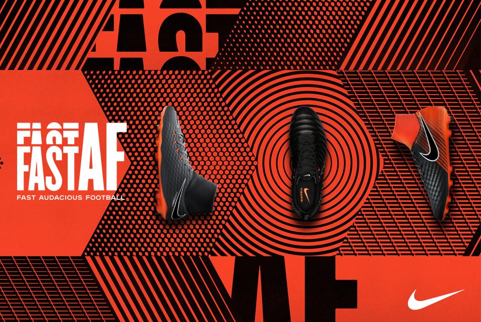 """""""Fast Audacious Football"""" questo il significato della nuova collezione di  scarpe da calcio Nike Fast AF 193bd3bb61a8"""
