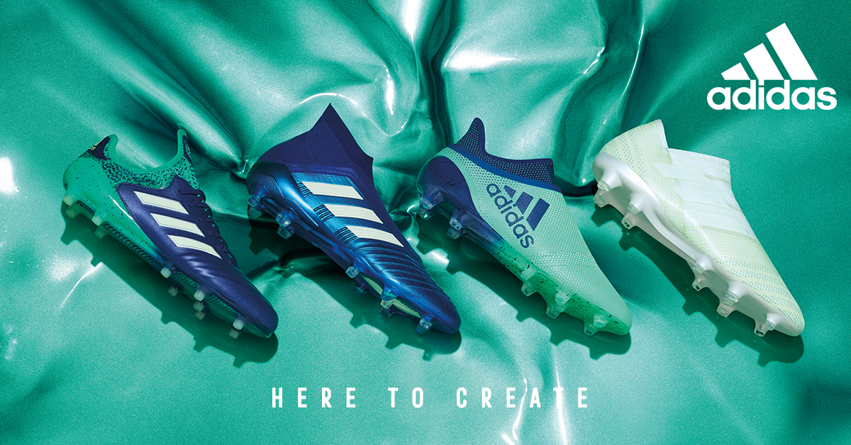 scarpe da calcio adidas x verdi e blu