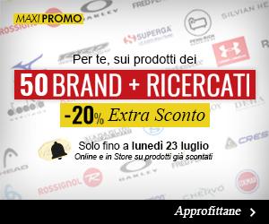 Extra sconto -20% sui 50 brand più ricercati!