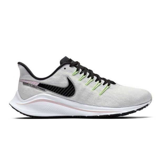 best website 72421 6a80b La Nike Air Zoom Vomero 14 da donna nella colorazione grigia con inserti  verdi e rosa